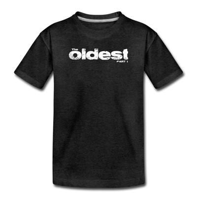 The oldest Toddler T-Shirt - charcoal gray