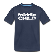 The Middle Child Toddler T-Shirt - navy