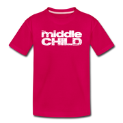 The Middle Child Toddler T-Shirt - dark pink