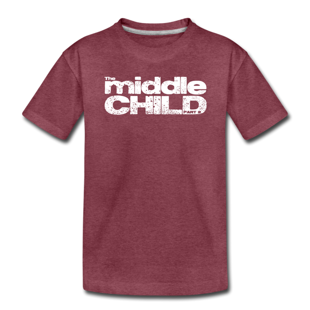 The Middle Child Toddler T-Shirt - heather burgundy