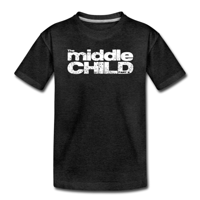 The Middle Child Toddler T-Shirt - charcoal gray