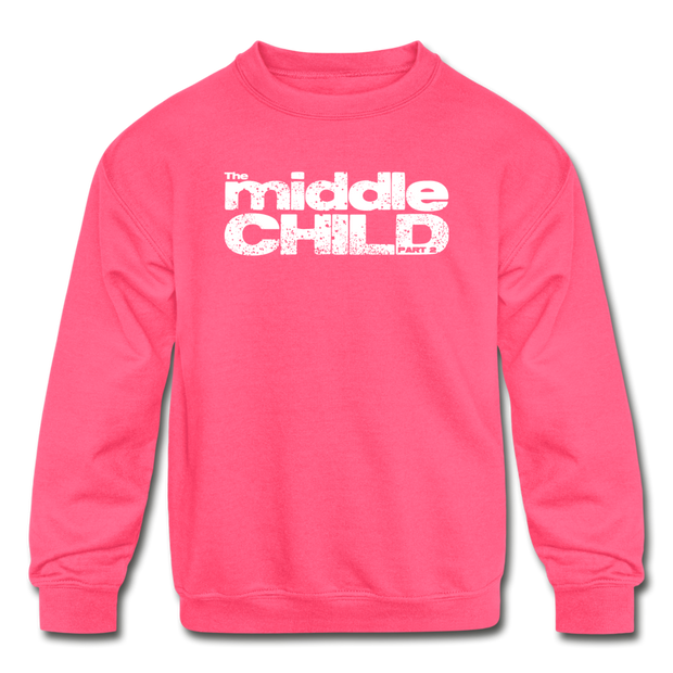 The middle child Youth Sweatshirt - neon pink