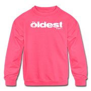The oldest Youth Sweatshirt - neon pink