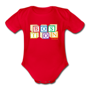 Boston wood blocks Infant One Piece - red