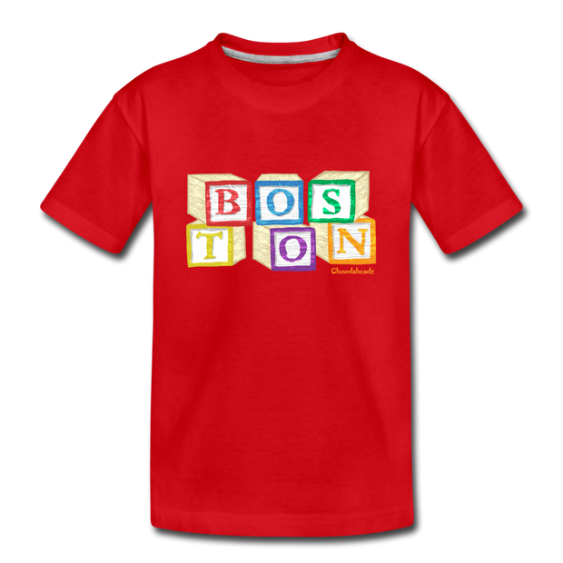 Boston wood block Toddler T-Shirt - red