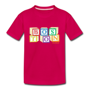 Boston wood block Toddler T-Shirt - dark pink