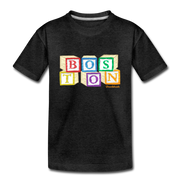 Boston wood block Toddler T-Shirt - charcoal gray