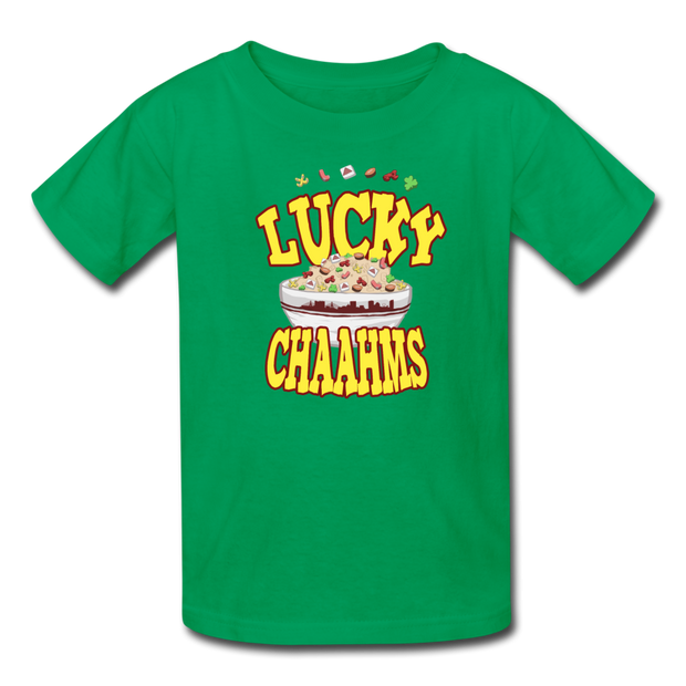 Lucky Chaahms Youth T-shirt - kelly green