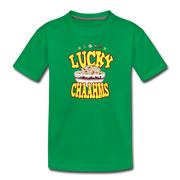 Lucky Chaahms Toddler T-Shirt - kelly green