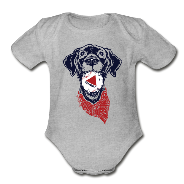 Fenway Dog Infant One Piece - heather gray