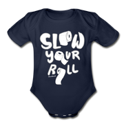 Slow Your Roll Infant One Piece - dark navy