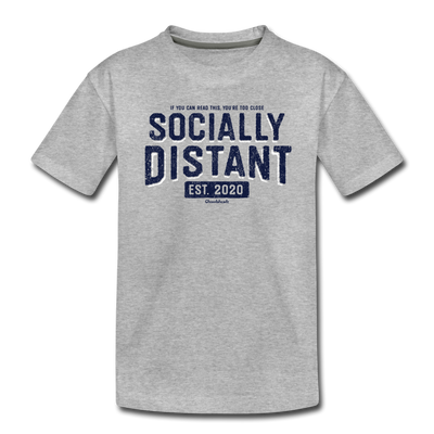 Socially Distant Toddler T-Shirt - heather gray