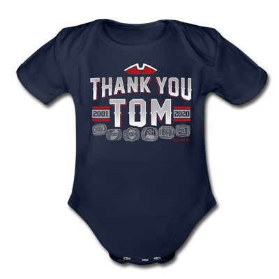 thank you tom infant one piece - dark navy