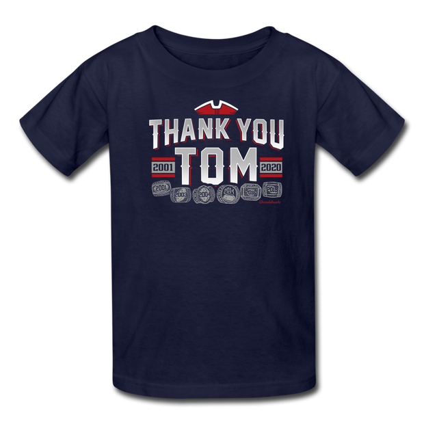 Thank You Tom Youth T-Shirt - navy