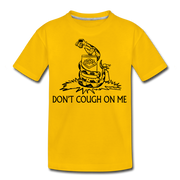 Don't Cough On Me Youth T-Shirt - sun yellow