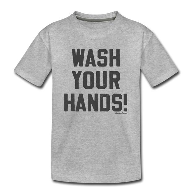 Wash Your Hands! Youth T-Shirt - heather gray
