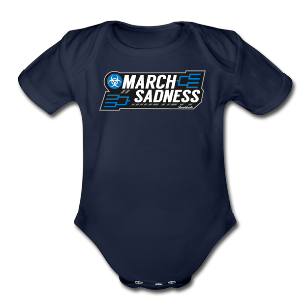 March Sadness Infant One Piece - dark navy