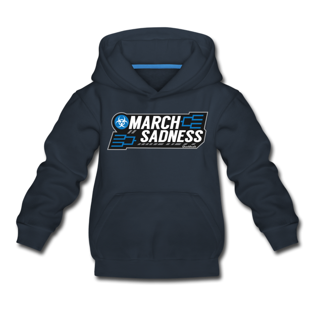March Sadness Youth Sweatshirt - navy