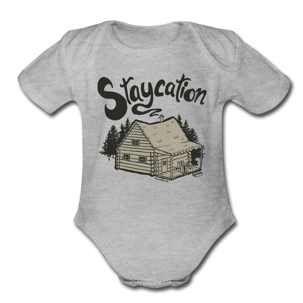 Staycation Infant One Piece - heather gray