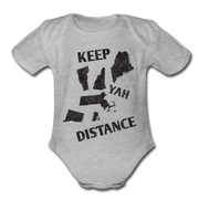 Keep Yah Distance - heather gray