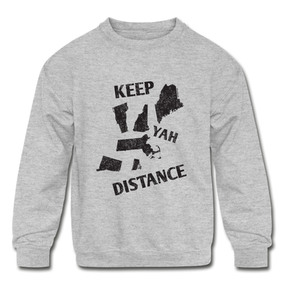Keep Yah Distance Youth Sweatshirt - heather gray