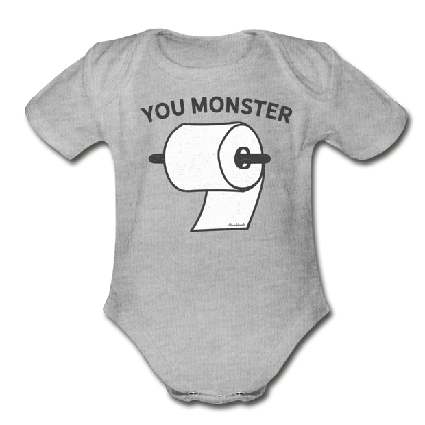 You monster Infant One Piece - heather gray