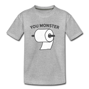 To Monster Toddler T-Shirt - heather gray