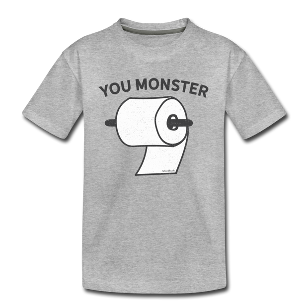 You Monster Youth T-shirt - heather gray