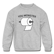 You Monster Youth Sweatshirt - heather gray
