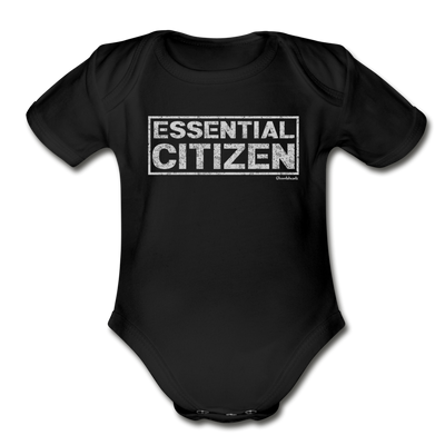 Essential Citizen Infant One Piece - black