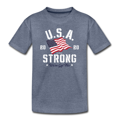USA Strong Toddler T-Shirt - heather blue