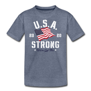 USA Strong Youth T-Shirt - heather blue