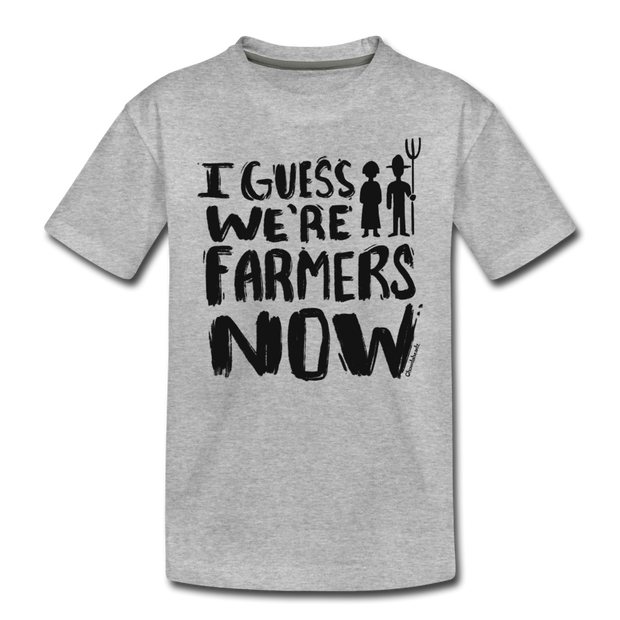 I Guess We're Farmers Now Youth T-Shirt - heather gray