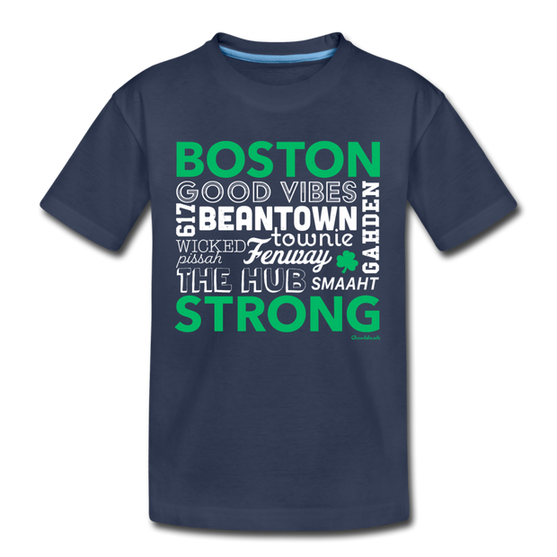 All Things Boston Strong Youth T-Shirt - navy