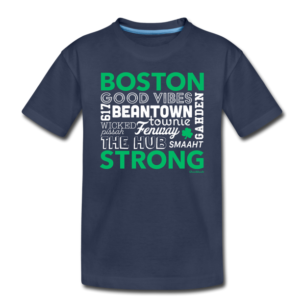 All Things Boston Strong Toddler T-Shirt - navy