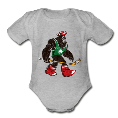 Massquatch Infant One Piece - heather gray