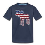 'Merica Moose Youth-T-shirt - navy