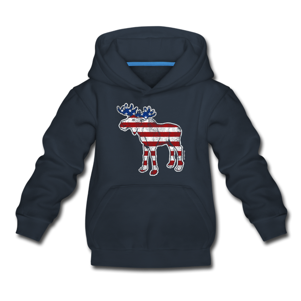 'Merica Moose Youth Sweatshirt - navy