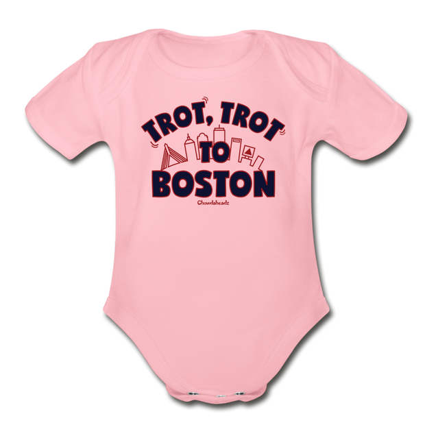 Trot Trot To Boston Infant One Piece - light pink