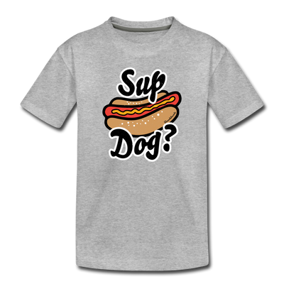 Sup Dog Toddler T-Shirt - heather gray