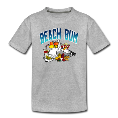 Beach Bum Youth T-Shirt - heather gray