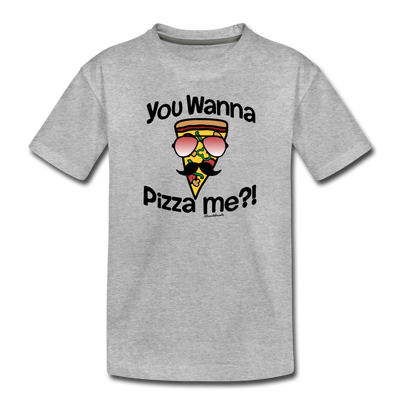 You Wanna Pizza Me Toddler T-Shirt - heather gray