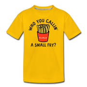 Who You Callin' A Small Fry Youth T-Shirt - sun yellow
