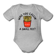 Who You Callin' A Small Fry Infant One Piece - heather gray