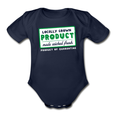 Locally Grown Product of Quarantine Infant One Piece - dark navy