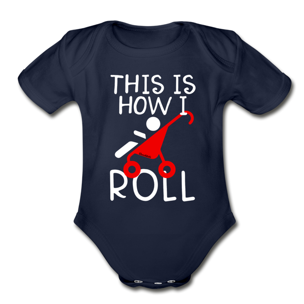 This is How I Roll Infant One Piece - dark navy