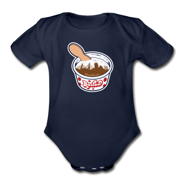 Boston Ice Cream Infant One Piece - dark navy