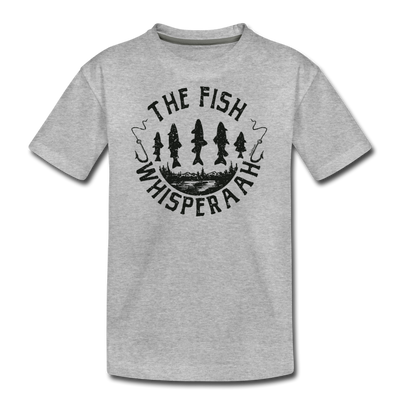The Fish Whisperaah Youth T-Shirt - heather gray