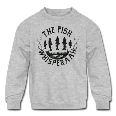 The Fish Whisperaah Youth Sweatshirt - heather gray