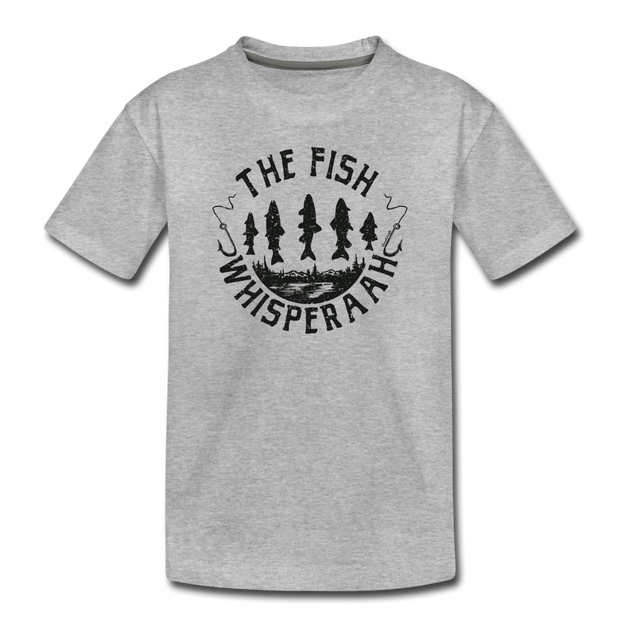 The Fish Whisperaah Toddler T-Shirt - heather gray